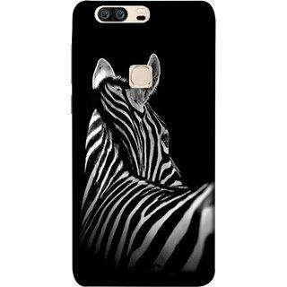 FUSON Designer Back Case Cover For Huawei Honor V8 (Close Up Portrait Of A Baby Zebra Long Ears Strips Forest)