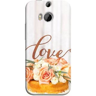 FUSON Designer Back Case Cover For HTC One M9 Plus :: HTC One M9+ :: HTC One M9+ Supreme Camera (Cake Pink Rose Birthday & Decoration Ceremony Lily)