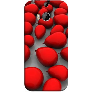 FUSON Designer Back Case Cover For HTC One M9 Plus :: HTC One M9+ :: HTC One M9+ Supreme Camera (Balloons Red Love Dark Gift Motivational)