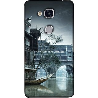 FUSON Designer Back Case Cover For Huawei Honor 5c :: Huawei Honor 7 Lite :: Huawei Honor 5c GT3 (Vintage Look Tturist Boat In An Amsterdam Canal Surrounded)