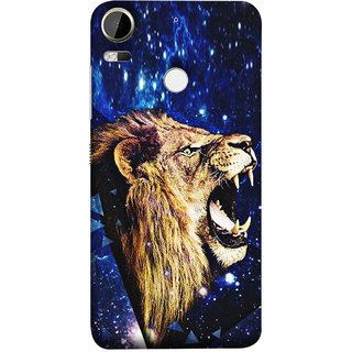 FUSON Designer Back Case Cover For HTC Desire 10 Pro (Wallpaper Abstract Grunge Whiskers Sharp Teeth )