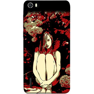 FUSON Designer Back Case Cover For Huawei Honor 6 (Photo Upset Sitting In Garden Hands Together Pub Thinking)