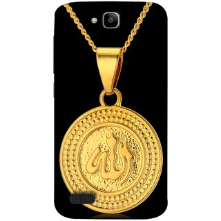 FUSON Designer Back Case Cover For Huawei Honor Holly (Allah Pendant Necklace For Men Middle East Necklaces)