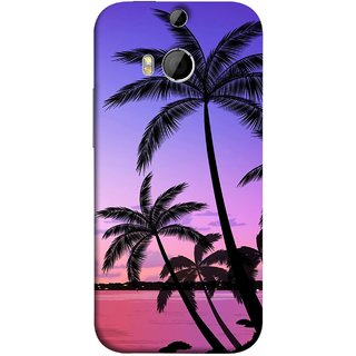 FUSON Designer Back Case Cover For HTC One M9 Plus :: HTC One M9+ :: HTC One M9+ Supreme Camera ( Twilight On The Beach Coconuts Goa Beach Holidays )
