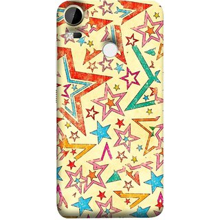 FUSON Designer Back Case Cover For HTC Desire 10 Pro (Vector Abstract Background Of Colorful 3D Stars)