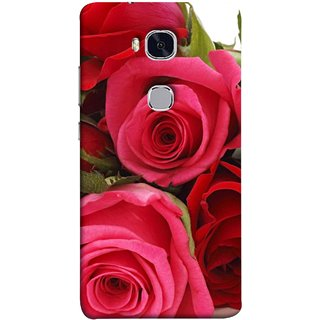 FUSON Designer Back Case Cover For Huawei Honor 5X :: Huawei Honor X5 :: Huawei Honor GR5 (Close Up Red Roses Chocolate Hearts For Valentines Day)