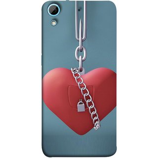 FUSON Designer Back Case Cover For HTC Desire 626G :: HTC Desire 626 Dual SIM :: HTC Desire 626S :: HTC Desire 626 USA :: HTC Desire 626G+ :: HTC Desire 626G Plus (Padlock Hanging With Steel Chains Hurt Tight)