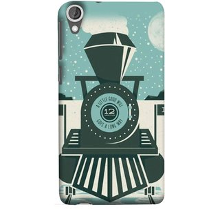 FUSON Designer Back Case Cover For HTC Desire 825 (Train Engine Smoke Little Good Will Goes Long Way)