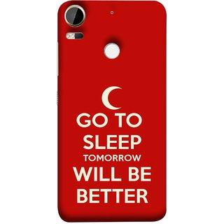 FUSON Designer Back Case Cover For HTC Desire 10 Pro (Moon Night Rest Relax Tomorrow Will All Fine )