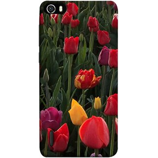 FUSON Designer Back Case Cover For Huawei Honor 6 (Dark Bold Red Roses Chocolate Hearts For Valentines Day)