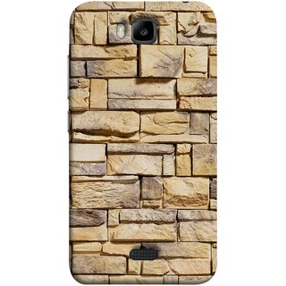 FUSON Designer Back Case Cover For Huawei Honor Bee :: Huawei Honor Bee Y5c (Wall Of Colored Stone Used As A Background)