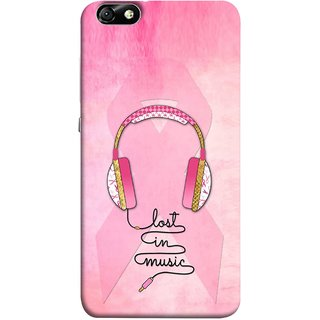 FUSON Designer Back Case Cover For Huawei Honor 4X :: Huawei Glory Play 4X (Valentine Pink Metallic Amazing In Concert Events )