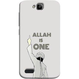 FUSON Designer Back Case Cover For Huawei Honor Holly (Allah One Arab Haj Men Middle East Necklaces)