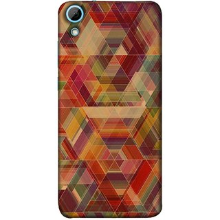 FUSON Designer Back Case Cover For HTC Desire 628 :: HTC Desire 628 Dual Sim  (Geometric Watercolour Art Print Pink Bright)
