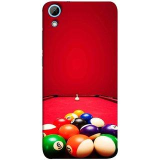FUSON Designer Back Case Cover For HTC Desire 820 :: HTC Desire 820 Dual Sim ::  HTC Desire 820S Dual Sim :: HTC Desire 820Q Dual Sim ::  HTC Desire 820G+ Dual Sim (Billards Pool Game Color Balls In Triangle Aiming)