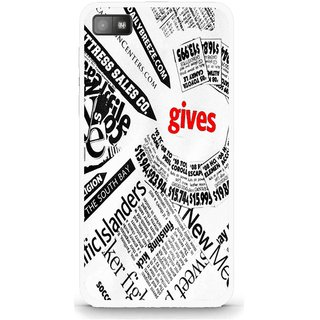 Snooky Printed Newspaper Mobile Back Cover For Blackberry Z10 - Multi