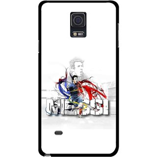 Snooky Printed Messi Mobile Back Cover For Samsung Galaxy Note 4 - Multicolour