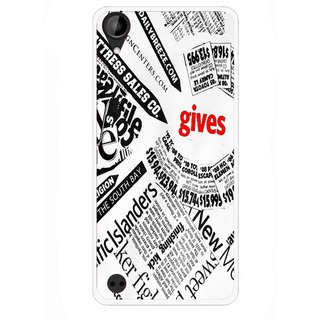 Snooky Printed Newspaper Mobile Back Cover For HTC Desire 630 - Multi