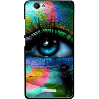 Snooky Printed Designer Eye Mobile Back Cover For Gionee M2 - Multi