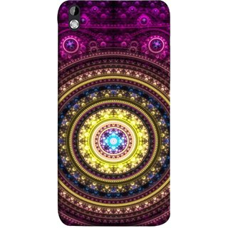 FUSON Designer Back Case Cover For HTC Desire 816 :: HTC Desire 816 Dual Sim :: HTC Desire 816G Dual Sim (Best Rangoli Patterns Treditional Photo Wallpapers )