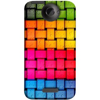 FUSON Designer Back Case Cover For HTC One X :: HTC One X+ :: HTC One X Plus :: HTC One XT (Bright And Beautiful Colour Strips And Band Glossy)