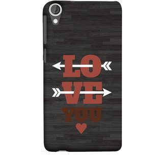 FUSON Designer Back Case Cover For HTC Desire 825 (Hearts Alone Arrow White Follow Worlds School )
