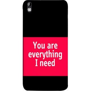 FUSON Designer Back Case Cover For HTC Desire 816 :: HTC Desire 816 Dual Sim :: HTC Desire 816G Dual Sim (Tu Tum Aap Mere Liye Sub Kuch Maze Vishwa )