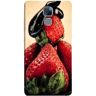 FUSON Designer Back Case Cover For Huawei Honor 7 :: Huawei Honor 7 (Enhanced Edition) :: Huawei Honor 7 Dual SIM (Best Fresh Strawberry Sweet Dish Homemade Recipes)