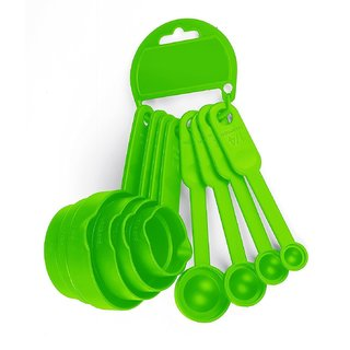 Baking Measuring Cups And Spoons with Wall Hanger Set of 8 Pcs