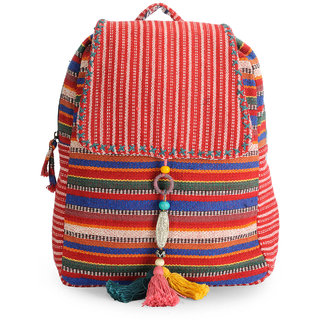 The House of Tara Handloom Fabric Stylish Everyday Backpack HTBP 117