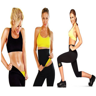 baaa8ea8a8 LITAX Unisex Hot Shaper Slimming Belt Fat Burn belt Waist Slimming belt for Men  Women PACK3