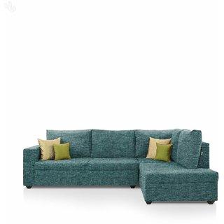 furniture4U - Lounger Sofa Set with Teal Upholstery - Premium - L Shape
