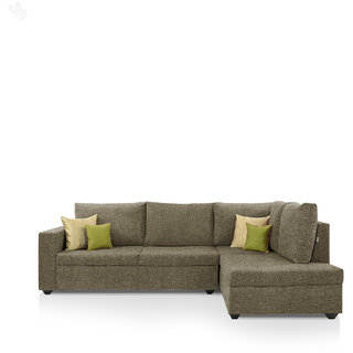 furniture4U - Lounger Sofa Set with Camel Colour Upholstery - Premium - L Shape