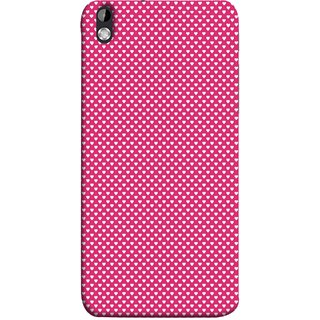 FUSON Designer Back Case Cover For HTC Desire 816 :: HTC Desire 816 Dual Sim :: HTC Desire 816G Dual Sim (Valentine Pink Metallic Hearts Cool Peace Sign Symbol)