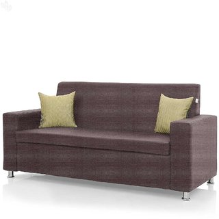 furniture4U - Fully Upholstered Three-Seater Sofa - Premium Florence Metallic Plum