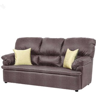 furniture4U - Three-Seater Sofa with Metallic Plum Upholstery - Premium