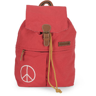 The House of Tara Canvas Backpack (Coral Red) HTBP 126