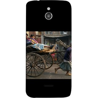 FUSON Designer Back Case Cover For InFocus M2 (Wheel Hay Cart Old Wagons Indian Cycle Rickshow)