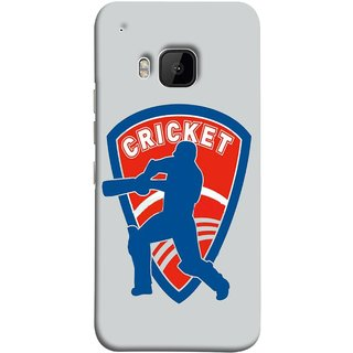 FUSON Designer Back Case Cover For HTC One M9 :: HTC One M9S :: HTC M9 (County Cricket India Aus England Bat Ball Batsman)