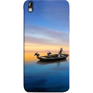 FUSON Designer Back Case Cover For HTC Desire 816 :: HTC Desire 816 Dual Sim :: HTC Desire 816G Dual Sim (Water Sea Sky Beautiful Boat Cruise Horizon )