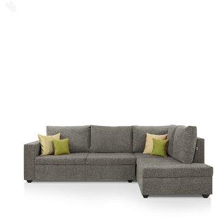 furniture4U - Lounger Sofa Set with Ecru Upholstery - Premium - L Shape