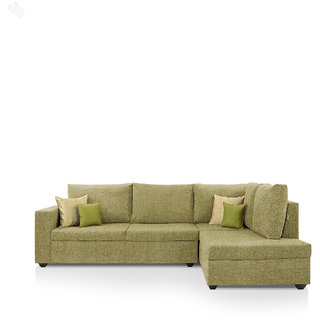 furniture4U - Lounger Sofa Set with Buff Upholstery - Premium - L Shape