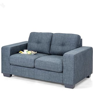 Buy Royal Oak Berlin Double Seater Sofa With Grey Upholstery Online