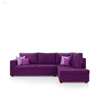 Furniture4u Lounger Sofa Set With Purple Upholstery Clic L Shape