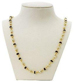 Gold Plated Pearl Linked Rudraksha Chain Mala