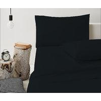 Single 400TC 100% Egyptian Cotton Navy Blue Solid Exquisite 3 PCs Bed Sheet Set
