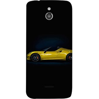 FUSON Designer Back Case Cover For InFocus M2 (Yellow 918 Spyder Top View Expensive Cars)