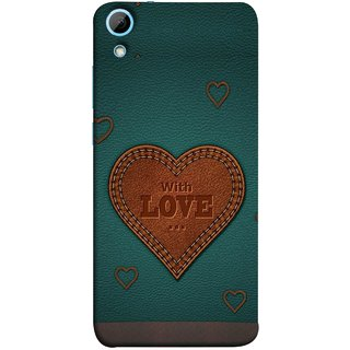 FUSON Designer Back Case Cover For HTC Desire 830 :: HTC Desire 830 Dual Sim (Dil Se Tumhare Sath Always Leather Jacket Hearts)