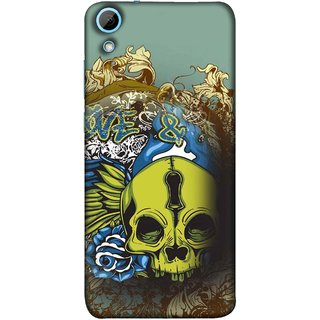 FUSON Designer Back Case Cover For HTC Desire 628 :: HTC Desire 628 Dual Sim  (Sugar  Drawing Keyhole Scary Day Of The Dead Craft )