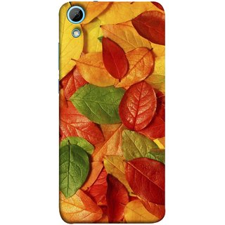 FUSON Designer Back Case Cover For HTC Desire 828 Dual Sim (Nature Colour Big Lotus Leaves Network Of Veins)